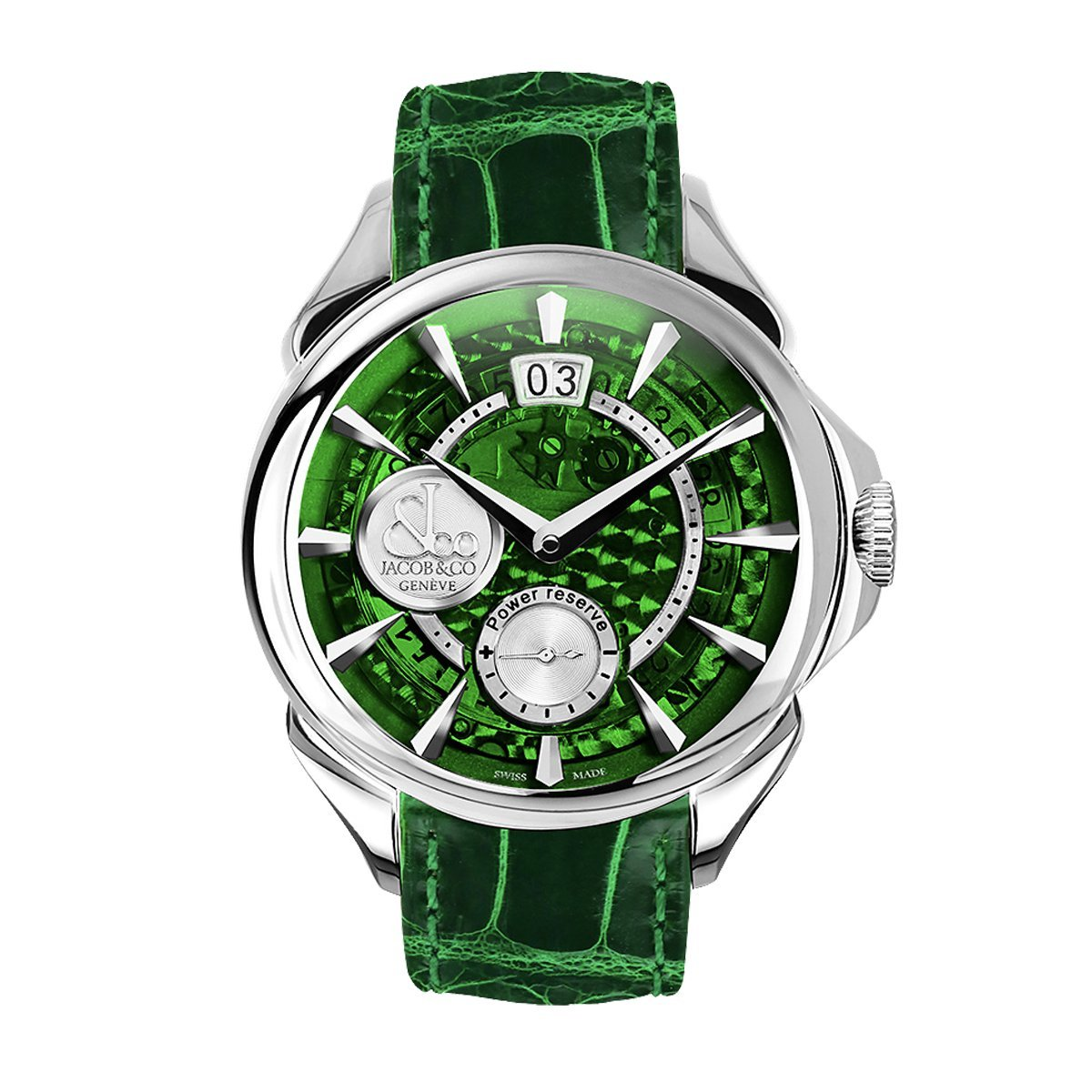 Jacob & Co. Palatial Classic Manual Big Date Green - Watches & Crystals