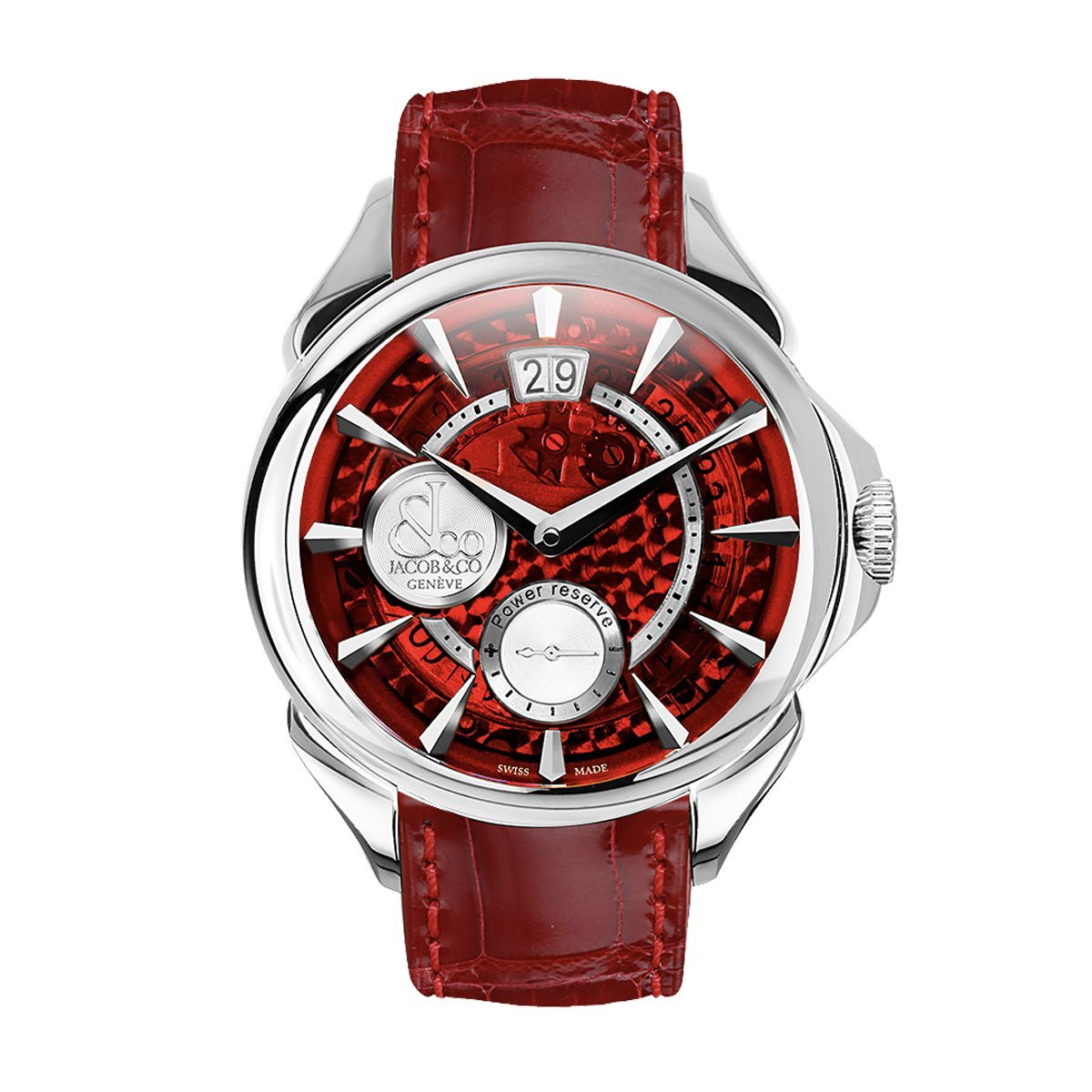 Jacob & Co. Palatial Classic Manual Big Date Red - Watches & Crystals
