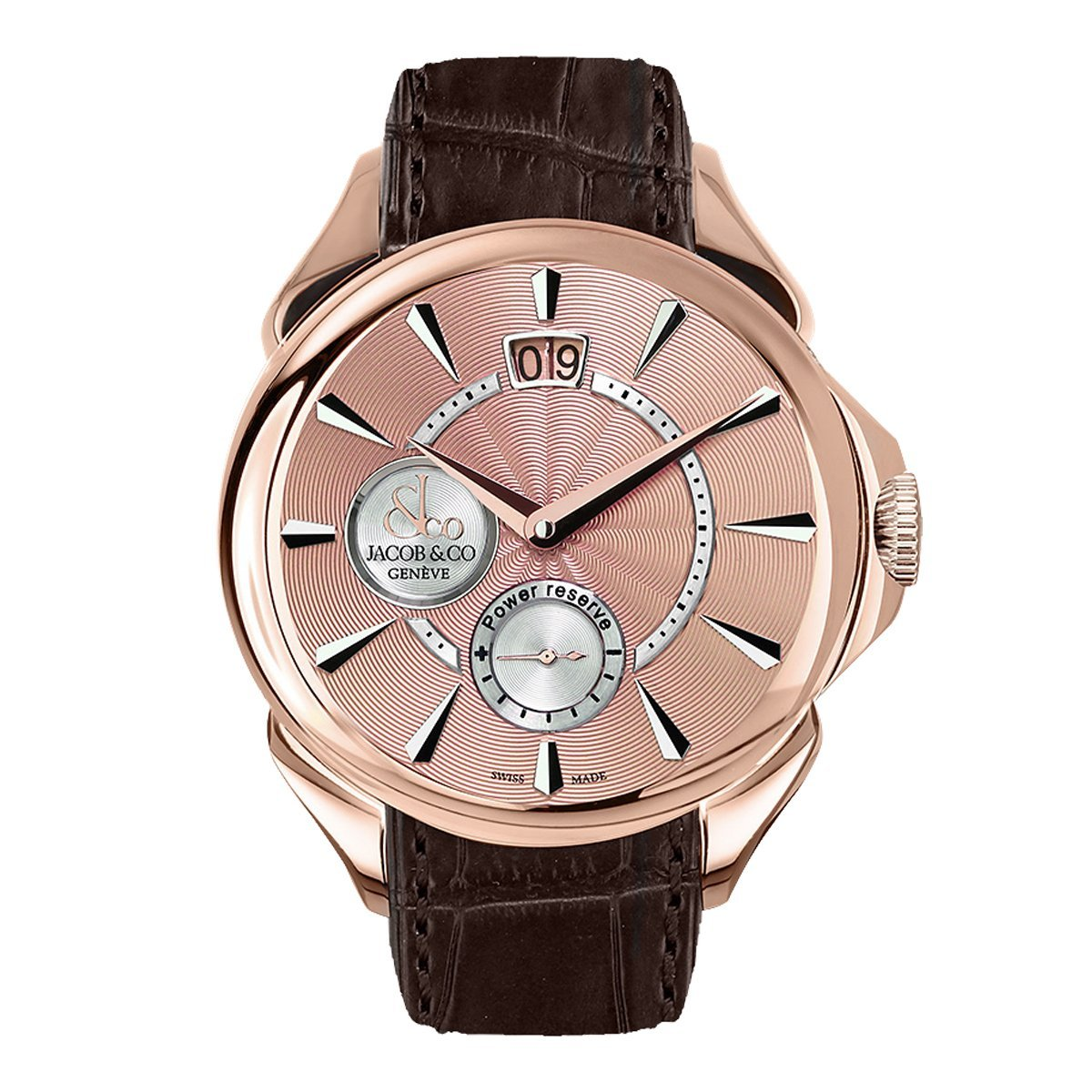Jacob & Co. Palatial Classic Manual Big Date Rose Gold - Watches & Crystals