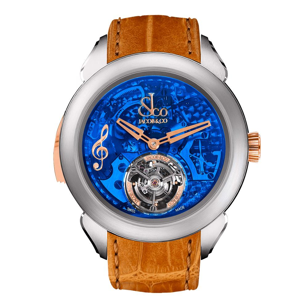 Jacob & Co. Palatial Flying Tourbillon Minute Repeater Titanium Blue Mineral - Watches & Crystals