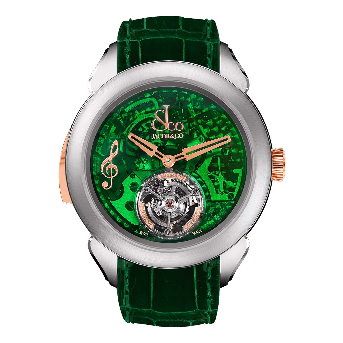 Jacob & Co. Palatial Flying Tourbillon Minute Repeater Titanium Green Mineral - Watches & Crystals