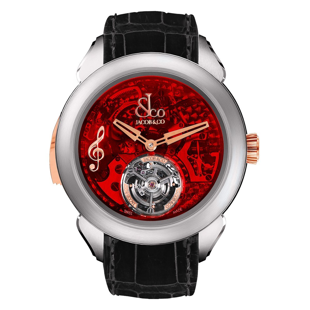 Jacob & Co. Palatial Flying Tourbillon Minute Repeater Titanium Red Mineral - Watches & Crystals