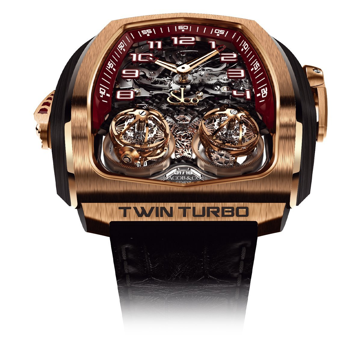 Jacob & Co. Twin Turbo Rose Gold - Watches & Crystals