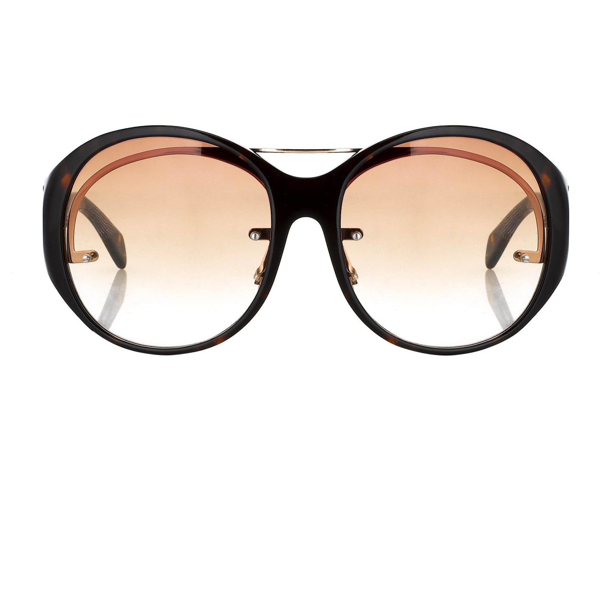 Jens Laugesen Women Sunglasses Oversized Tortoise Shell Gold With Brown Graduated Lenses 9JL1C1TSHELL - Watches & Crystals