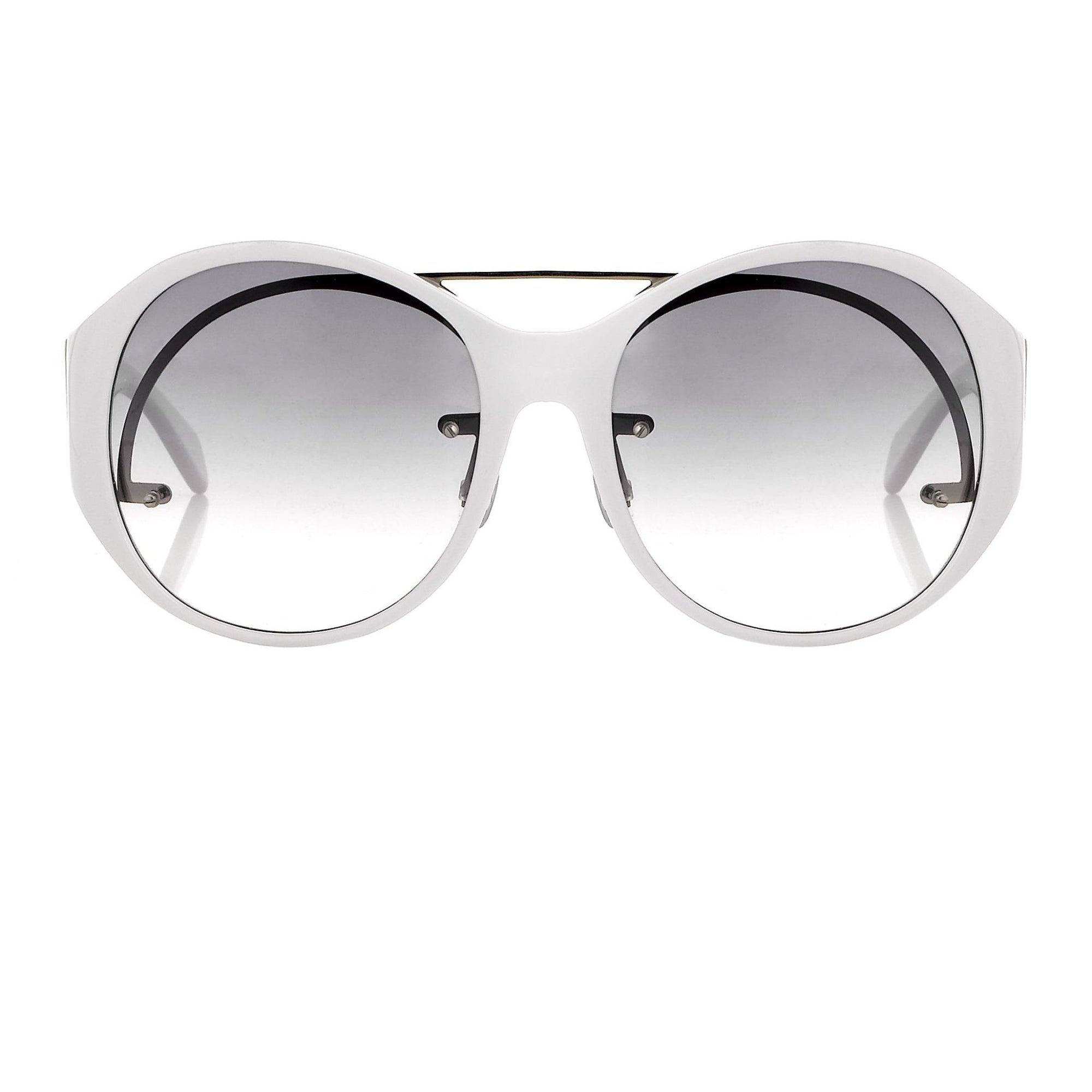 Jens Laugesen Women Sunglasses Oversized White Silver With Grey Graduated Lenses 9JL1C4WHITE - Watches & Crystals