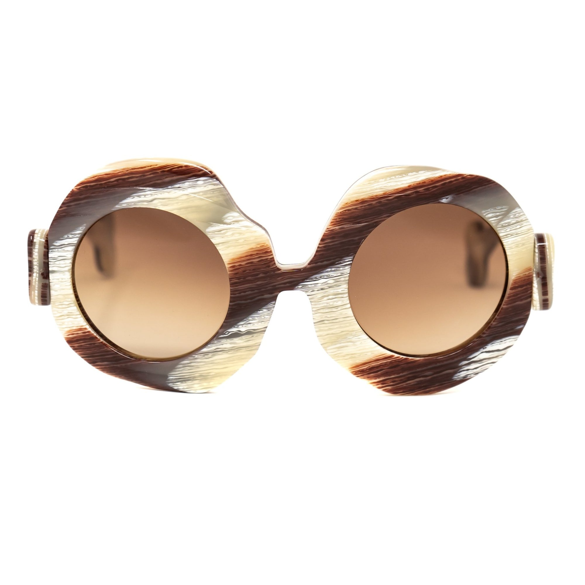 Jeremy Scott Sunglasses Bones Special Edition Brown Cream CAT2 JSBONESSPECSC2SUN - Watches & Crystals