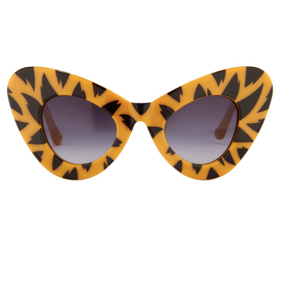 Jeremy Scott Sunglasses Cat Eye Tiger Prints With Grey Category 3 Graduated Lenses JSCATEYEC3SUN - Watches & Crystals