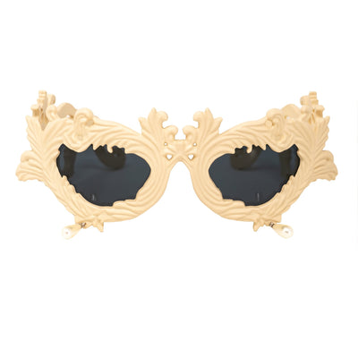 Jeremy Scott Sunglasses Flourish Antique Matte Cream With Grey Category 3 Lenses JSFLOURISHC5SUN - Watches & Crystals