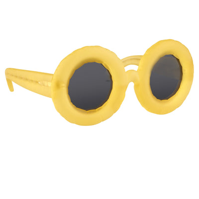 Jeremy Scott Sunglasses Pool Special Edition Frosted Lemon CAT3 JSPOOLC2SUN - Watches & Crystals