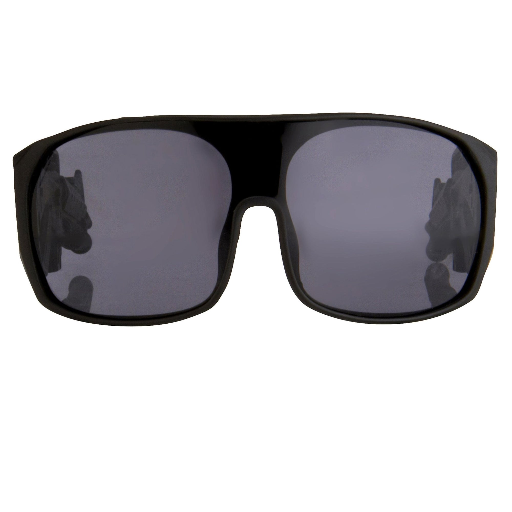 Jeremy Scott Sunglasses Rectangular Black With Solid Grey Category 3 Lenses JSARMYC1SUN - Watches & Crystals