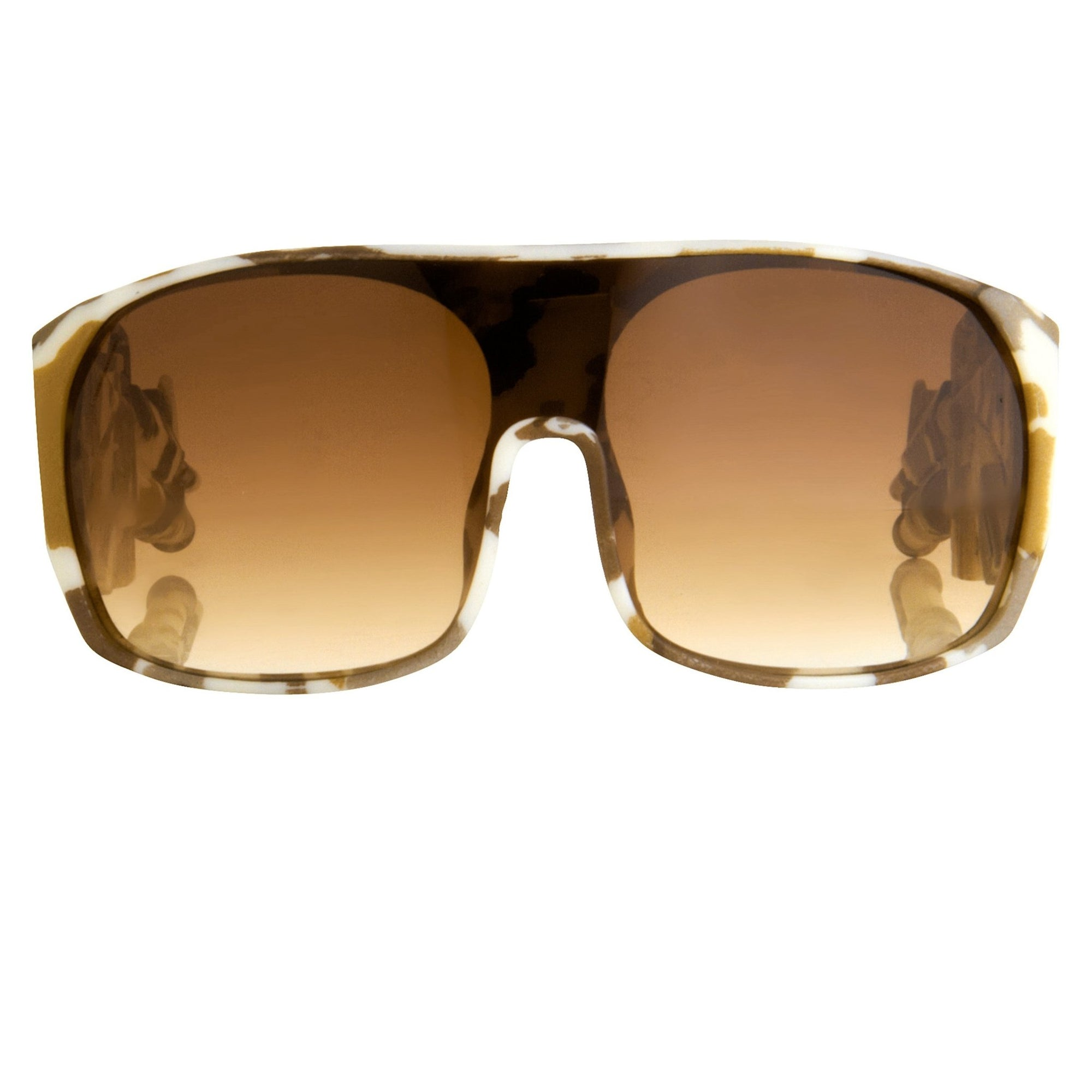 Jeremy Scott Sunglasses Rectangular Desert Camo With Brown Category 3 Graduated Lenses JSARMYC4SUN - Watches & Crystals