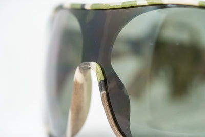 Jeremy Scott Sunglasses Rectangular Green Camo With Green Category 3 Lenses JSARMYC3SUN - Watches & Crystals