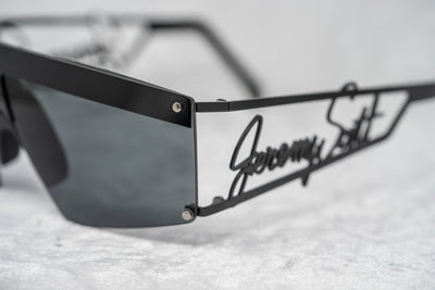 Jeremy Scott Sunglasses Shield Signature Black With Grey Category 3 Lenses JSSIGNATUREC6SUN - Watches & Crystals