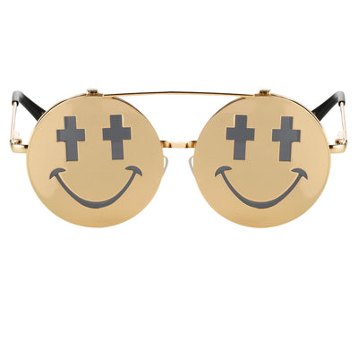 Jeremy Scott Sunglasses Smile Special Edition Shiny Gold CAT3 JSSMILEC2SUN - Watches & Crystals
