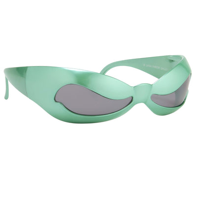 Jeremy Scott Sunglasses Unisex Special Shape Green With CAT3 Grey Lenses JSNUWAVEC2SUN - Watches & Crystals