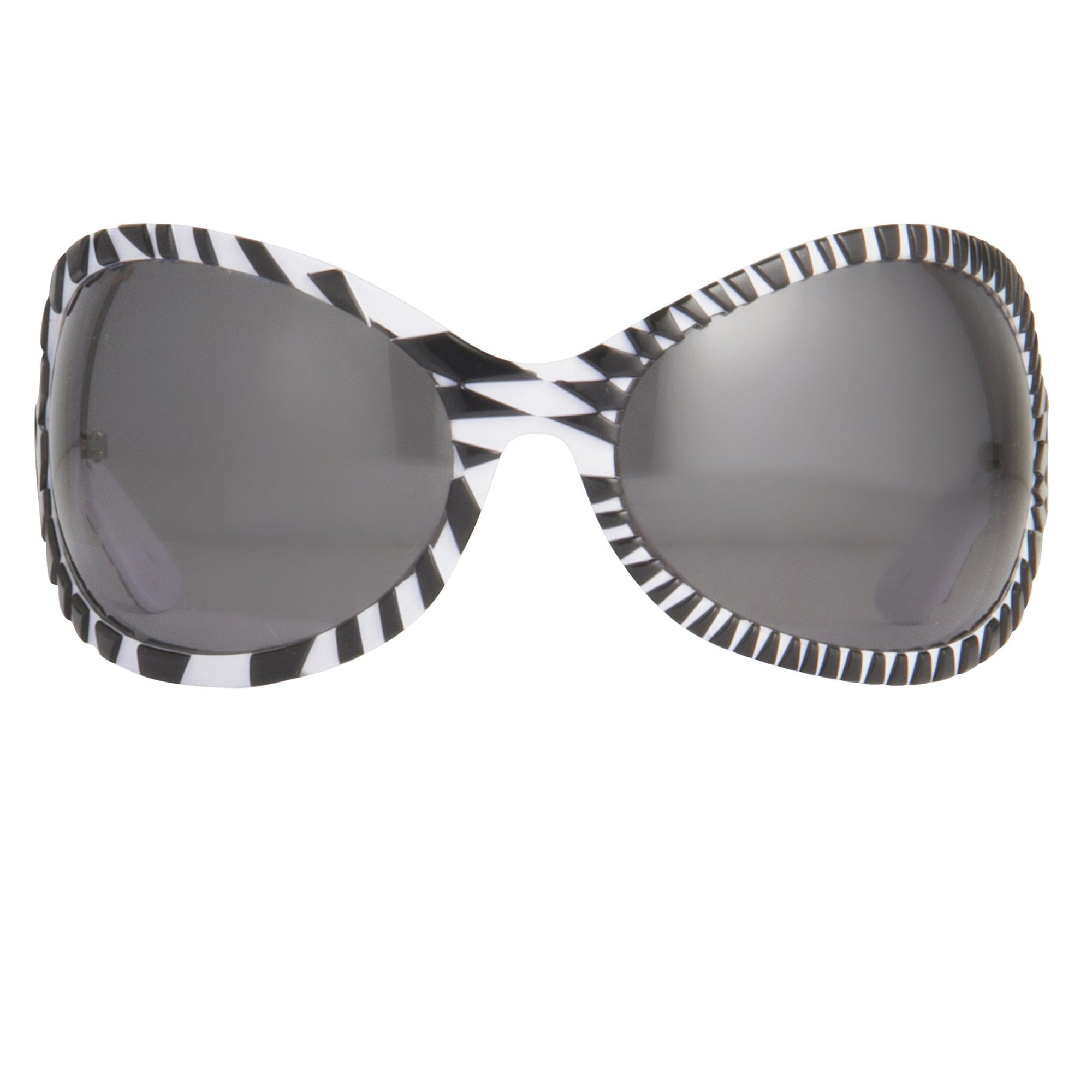 Jeremy Scott Sunglasses Wrap Around Black White Pattern With Grey Category 3 Lenses JSWRAPC1SUN - Watches & Crystals