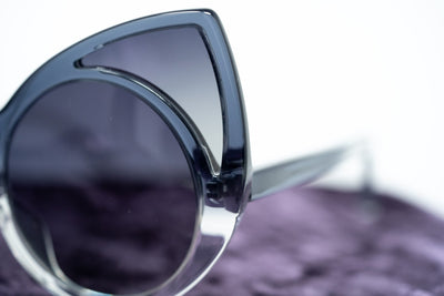 Khaleda And Fahad Sunglasses Cat Eyes Grey Gradient with Grey Gradient Lenses CAT 3 KR1C16SUN - Watches & Crystals