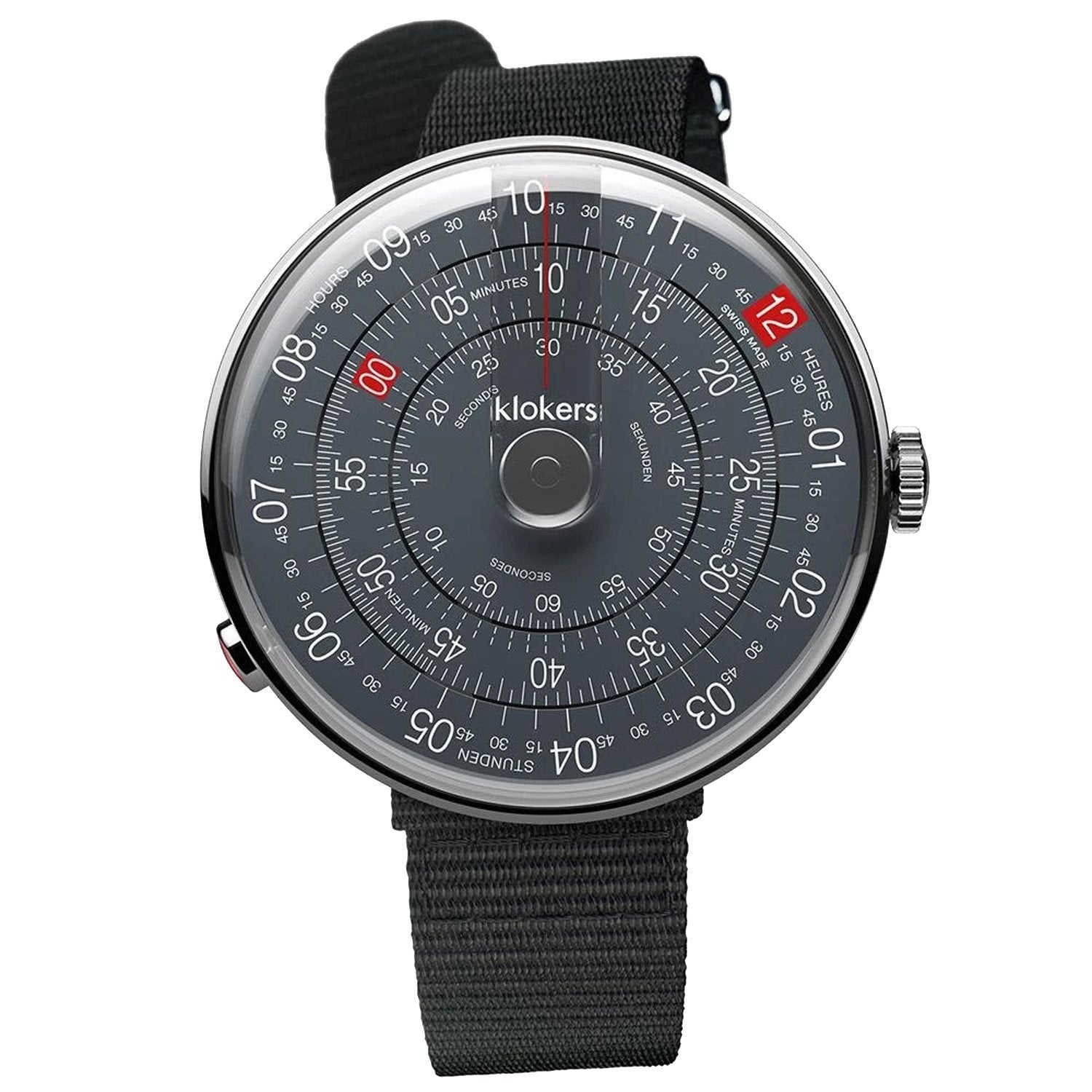 Klokers Heritage Anthracite Dial Black Limited and Numbered Edition - Watches & Crystals