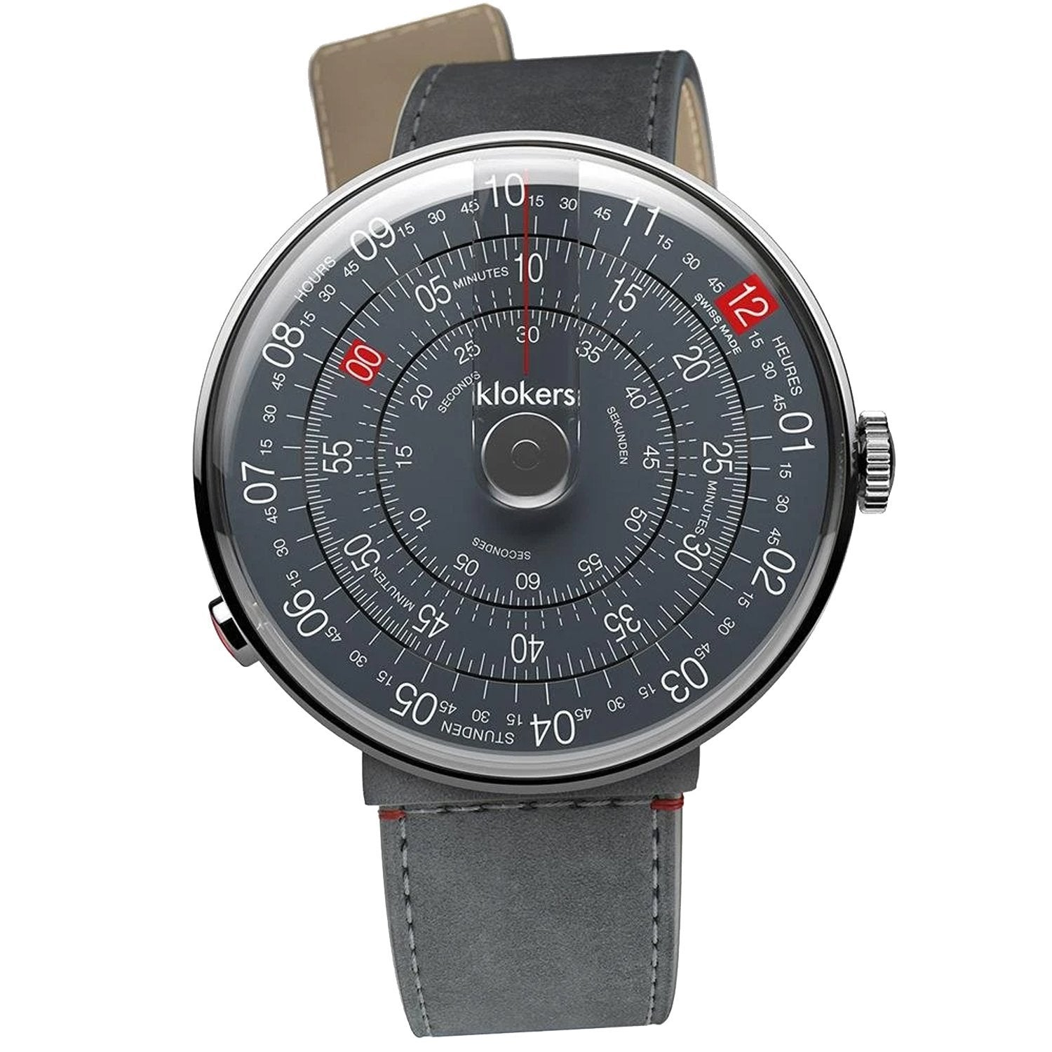 Klokers Heritage Anthracite Dial Grey Leather Limited and Numbered Edition - Watches & Crystals