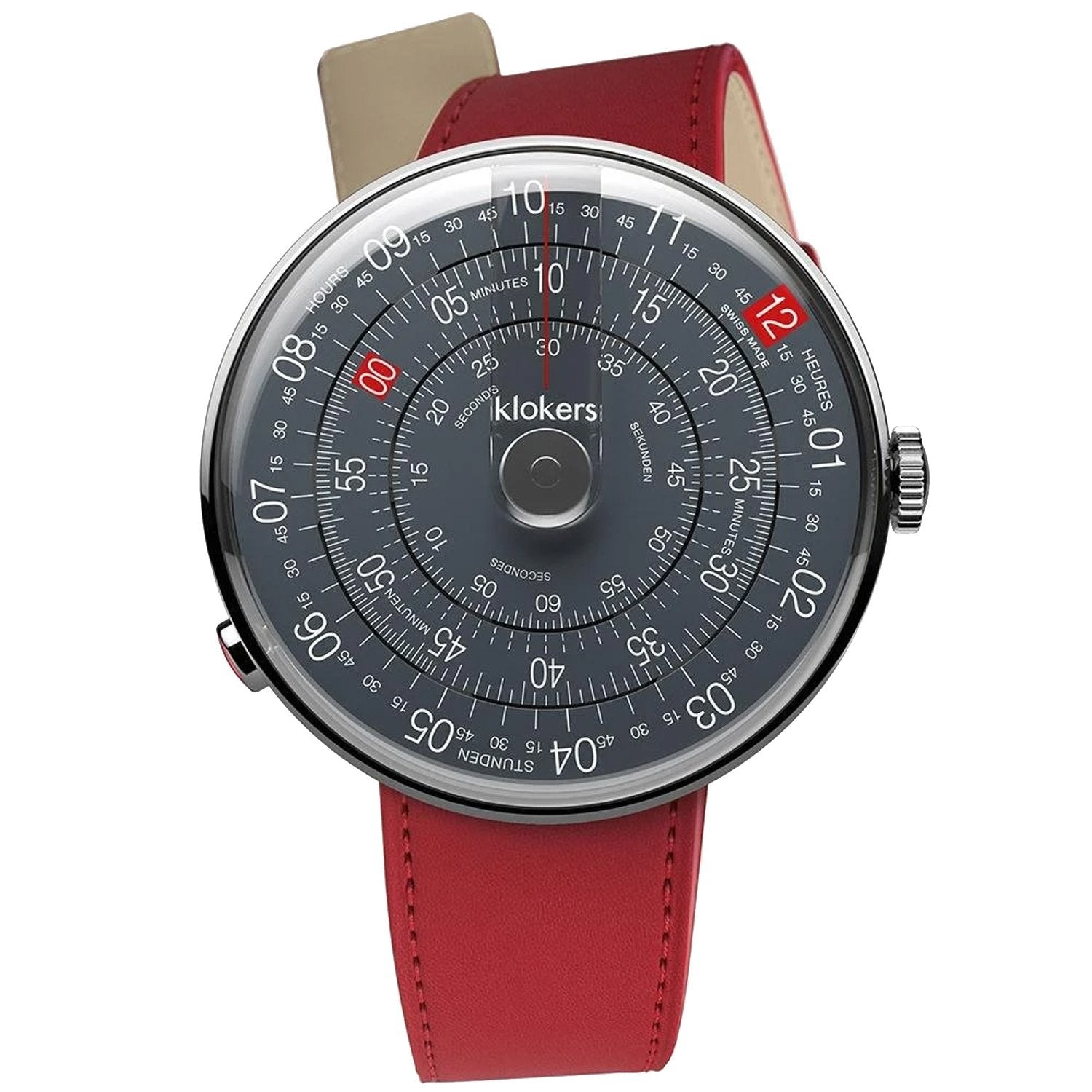 Klokers Heritage Anthracite Dial Red Leather Limited and Numbered Edition - Watches & Crystals