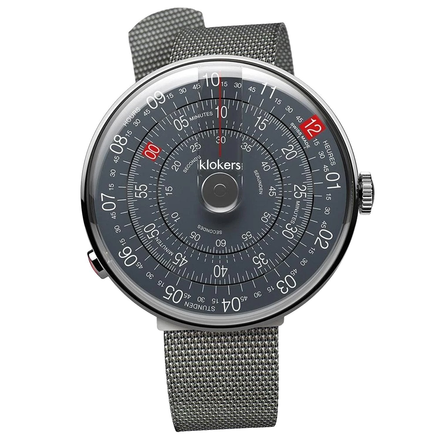 Klokers Heritage Anthracite Stainless Steel Limited and Numbered Edition - Watches & Crystals