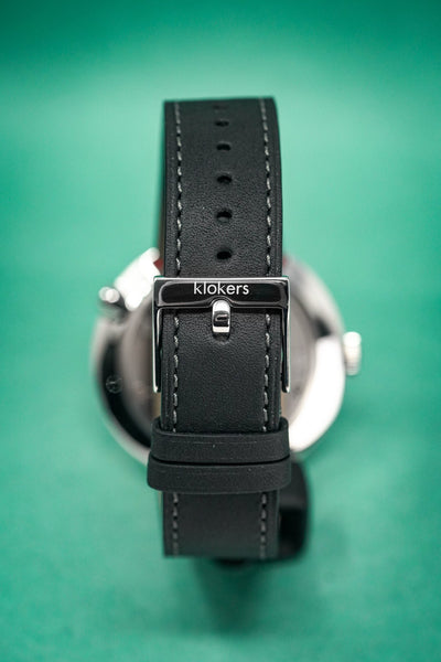 Klokers Heritage Blue Dial Black Leather - Watches & Crystals