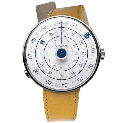 Klokers Heritage Blue Dial Yellow Leather - Watches & Crystals