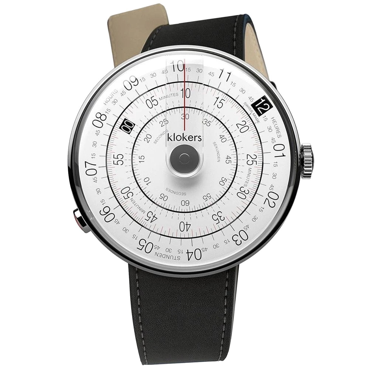 Klokers Heritage Grey Dial Black Leather - Watches & Crystals