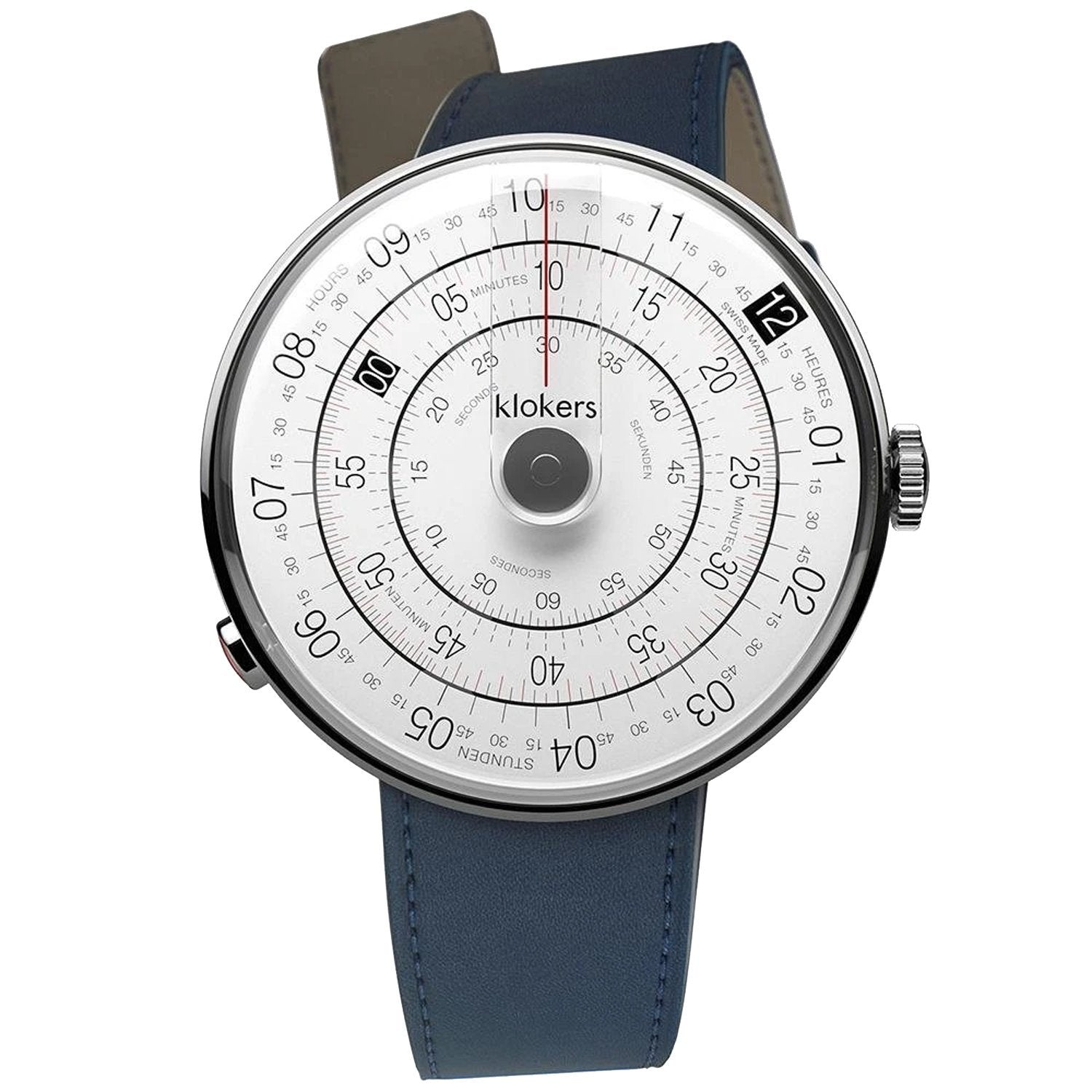 Klokers Heritage Grey Dial Blue Leather - Watches & Crystals