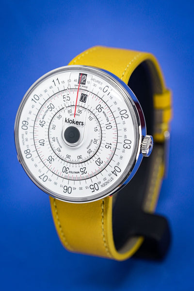 Klokers Heritage Grey Dial Yellow Leather - Watches & Crystals