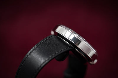 Klokers Klok 01 Black Leather - Watches & Crystals
