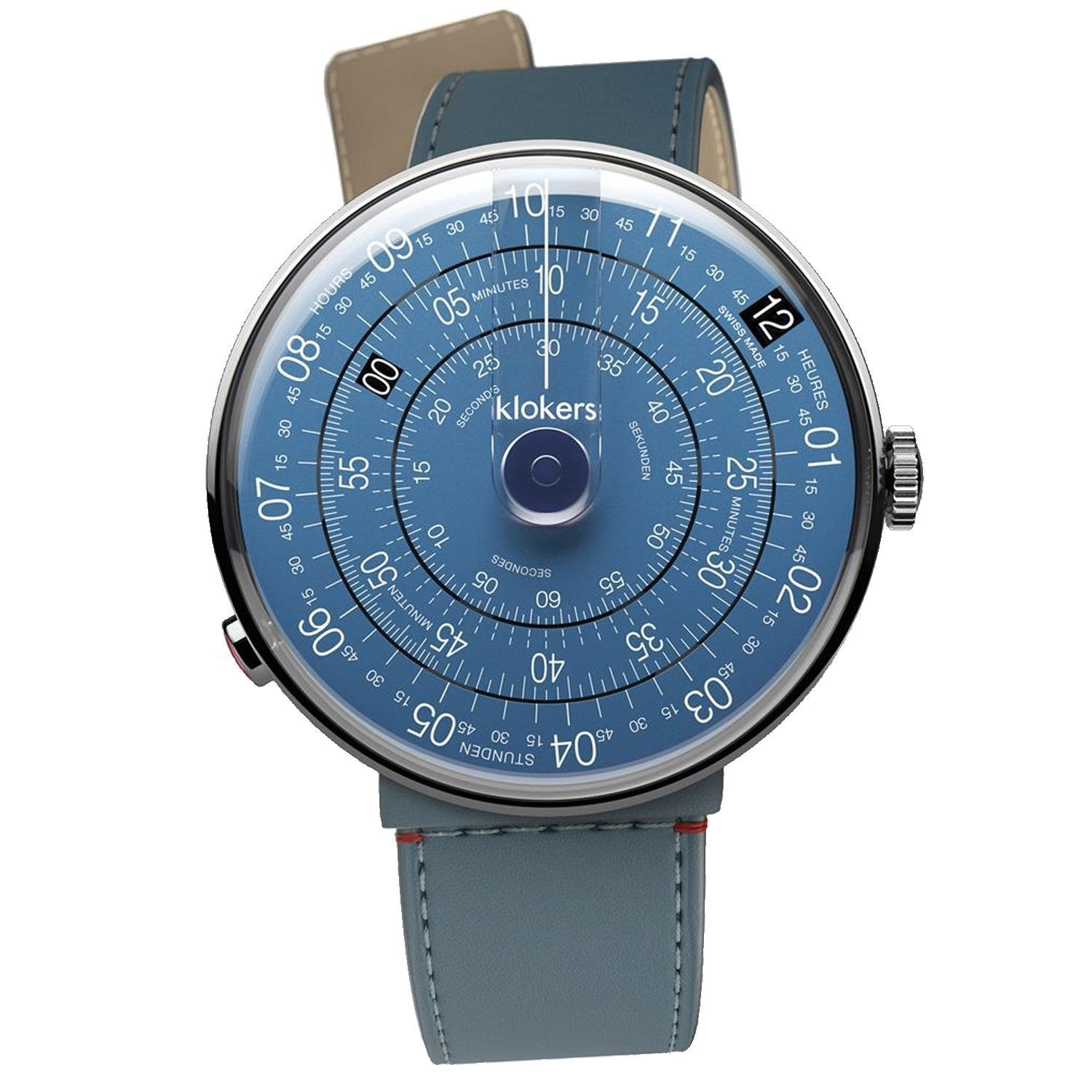 Klokers Klok 01 Blue Leather - Watches & Crystals