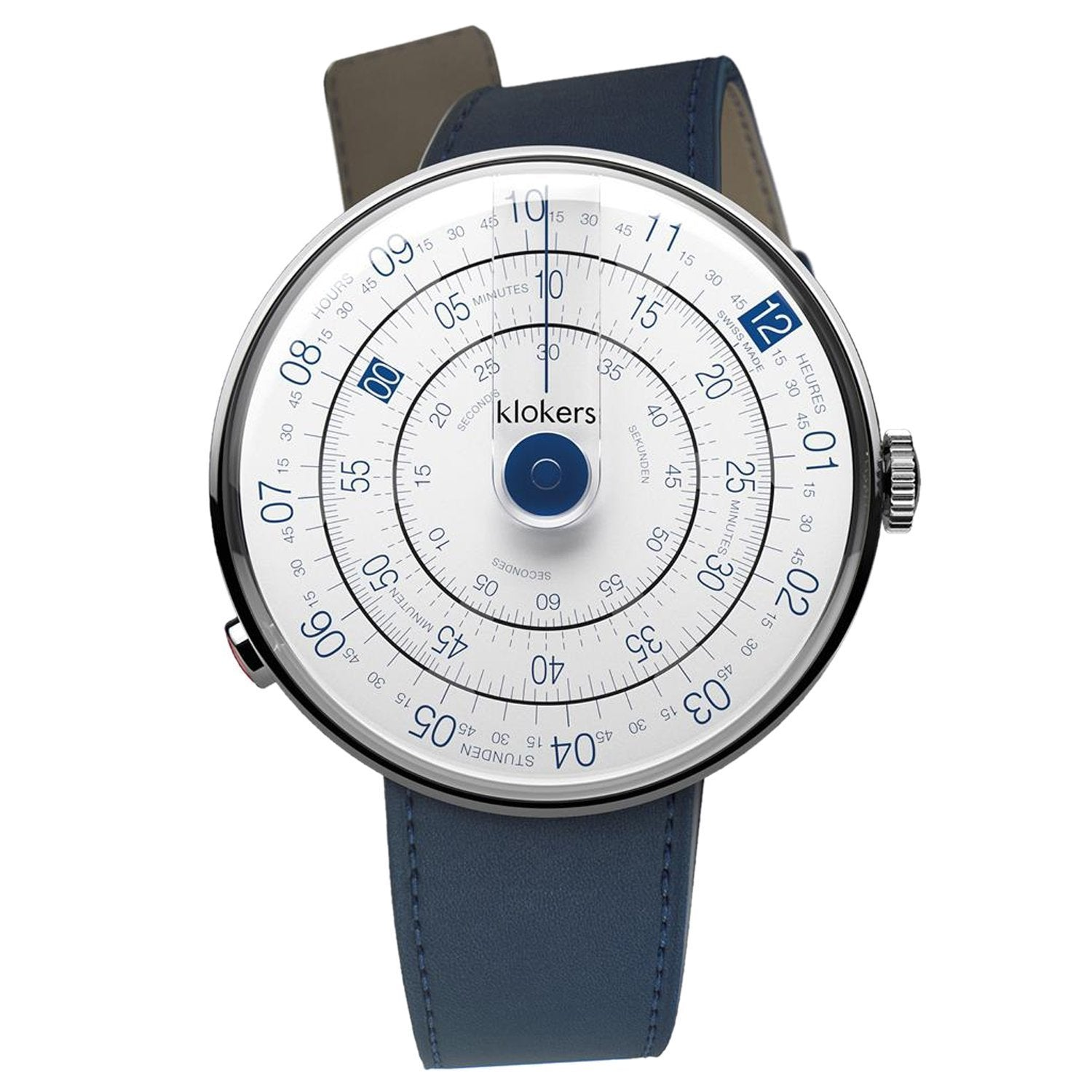 Klokers Klok 01 White Leather - Watches & Crystals
