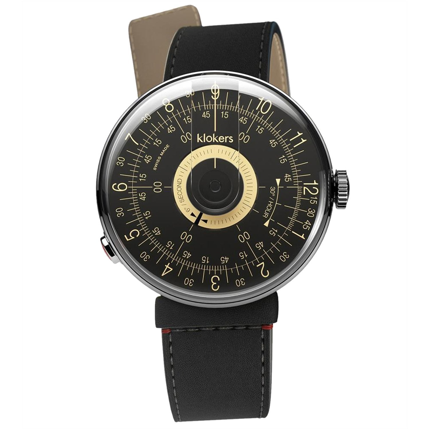 Klokers Klok 08 Black Champagne - Watches & Crystals