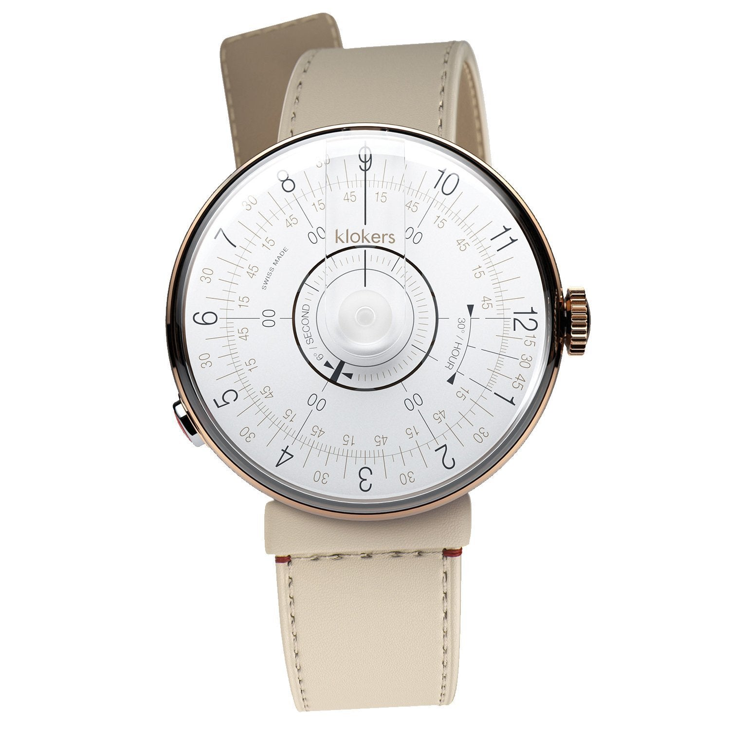 Klokers Klok 08 Rose Gold Stainless Steel - Watches & Crystals