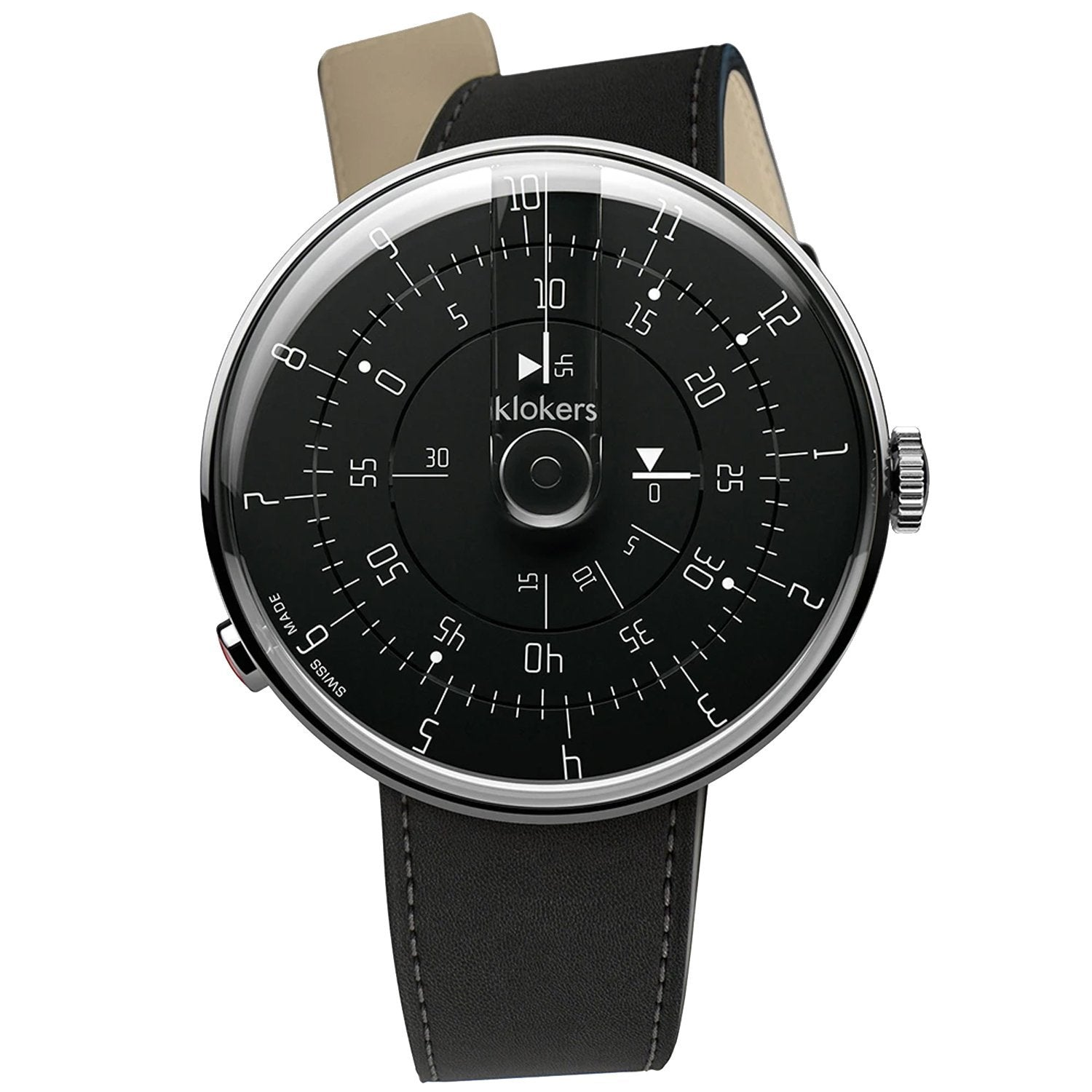 Klokers Minimal Black - Watches & Crystals
