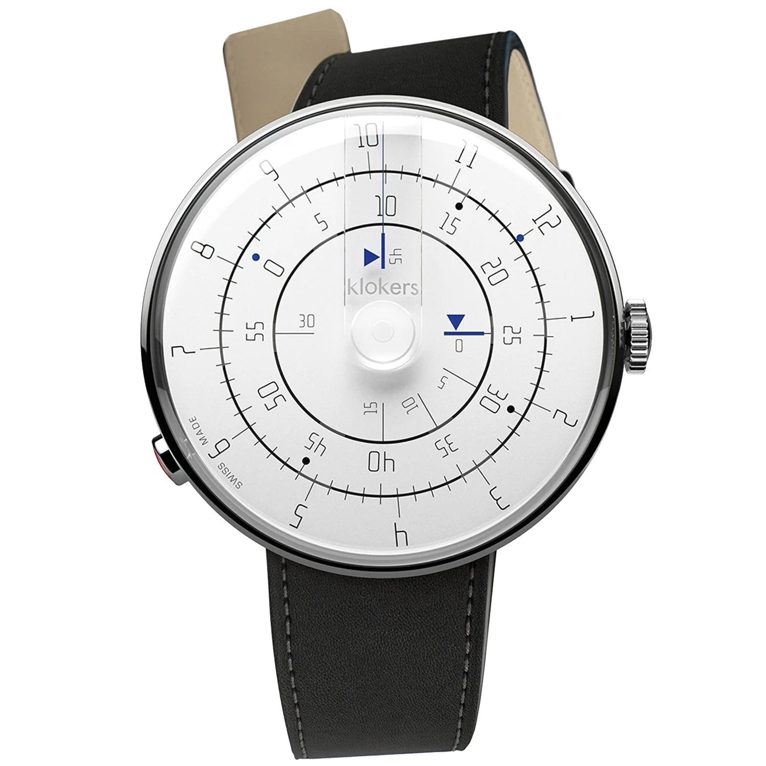 Klokers Minimal Black Leather - Watches & Crystals