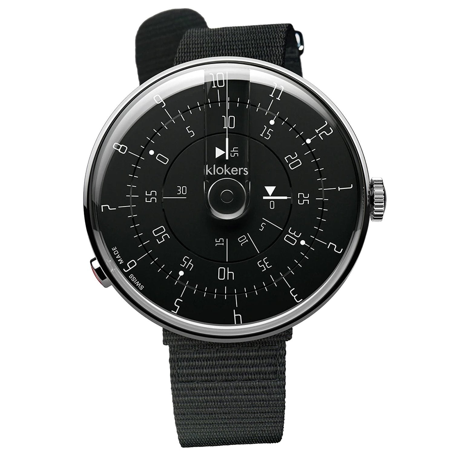 Klokers Minimal Black Nylon - Watches & Crystals