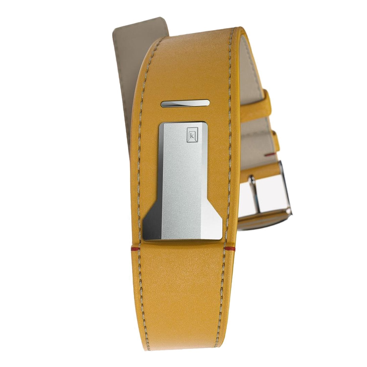 Klokers Yellow Leather Strap - Watches & Crystals
