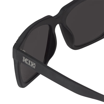 Kokon To Zai Sunglasses D-Frame Unisex Matte Black/White With Silver Lenses KTZ14C2SUN - Watches & Crystals
