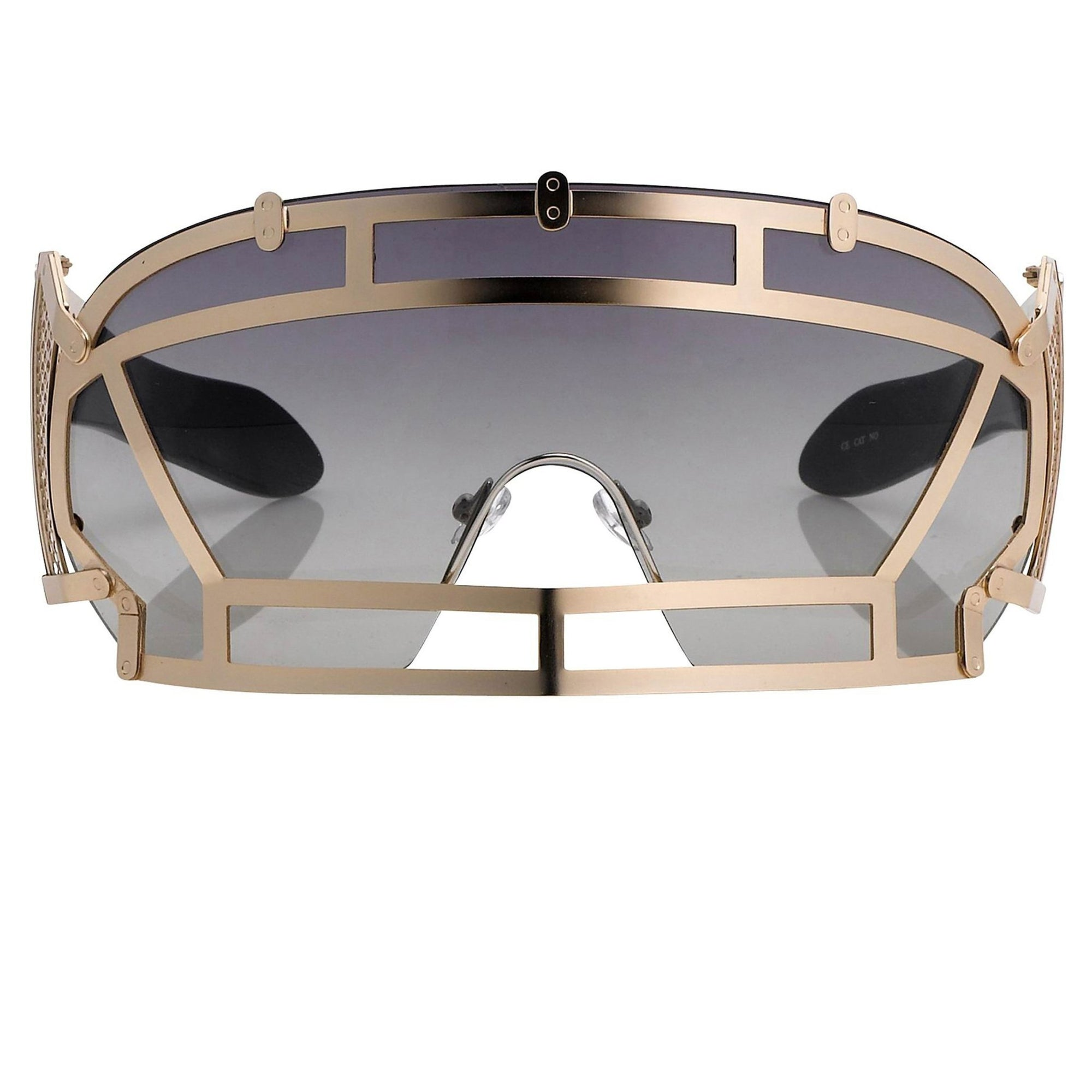 Kokon To Zai Sunglasses Football Helmet Gold With Grey Lenses KTZ1C3SUN - Watches & Crystals