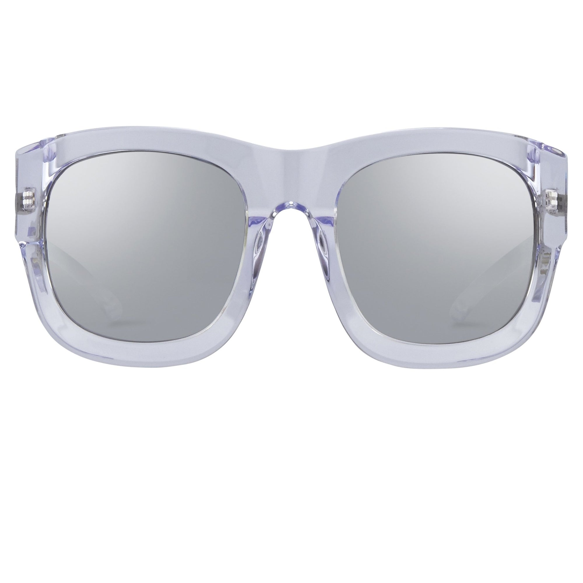 Kokon To Zai Sunglasses Oversized Clear With Silver Category 3 Mirror Lenses KTZ17C3SUN - Watches & Crystals