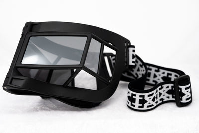 Kokon To Zai Sunglasses Shield Mask Matte Black With Silver Category 3 Mirror Lenses KTZ9C2SUN - Watches & Crystals