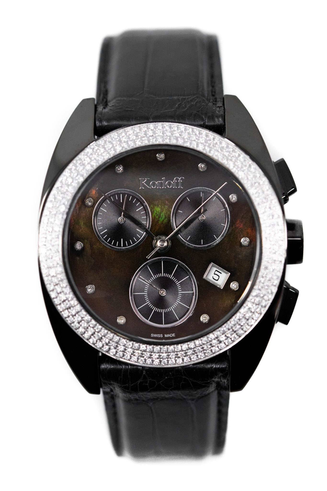 Korloff Diamond Chronograph Black - Watches & Crystals