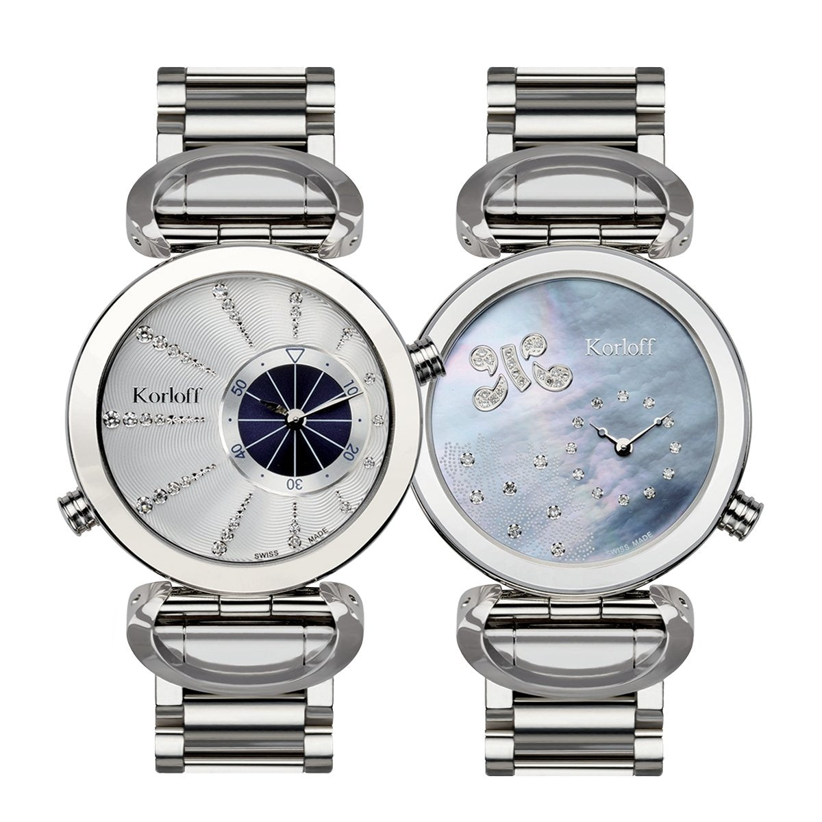 Korloff Marine Collection Reversible Diamond Steel - Watches & Crystals