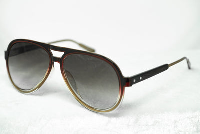 Kris Van Assche Sunglasses Burgundy Clear and Brown Graduated Lenses - KVA78C2SUN - Watches & Crystals