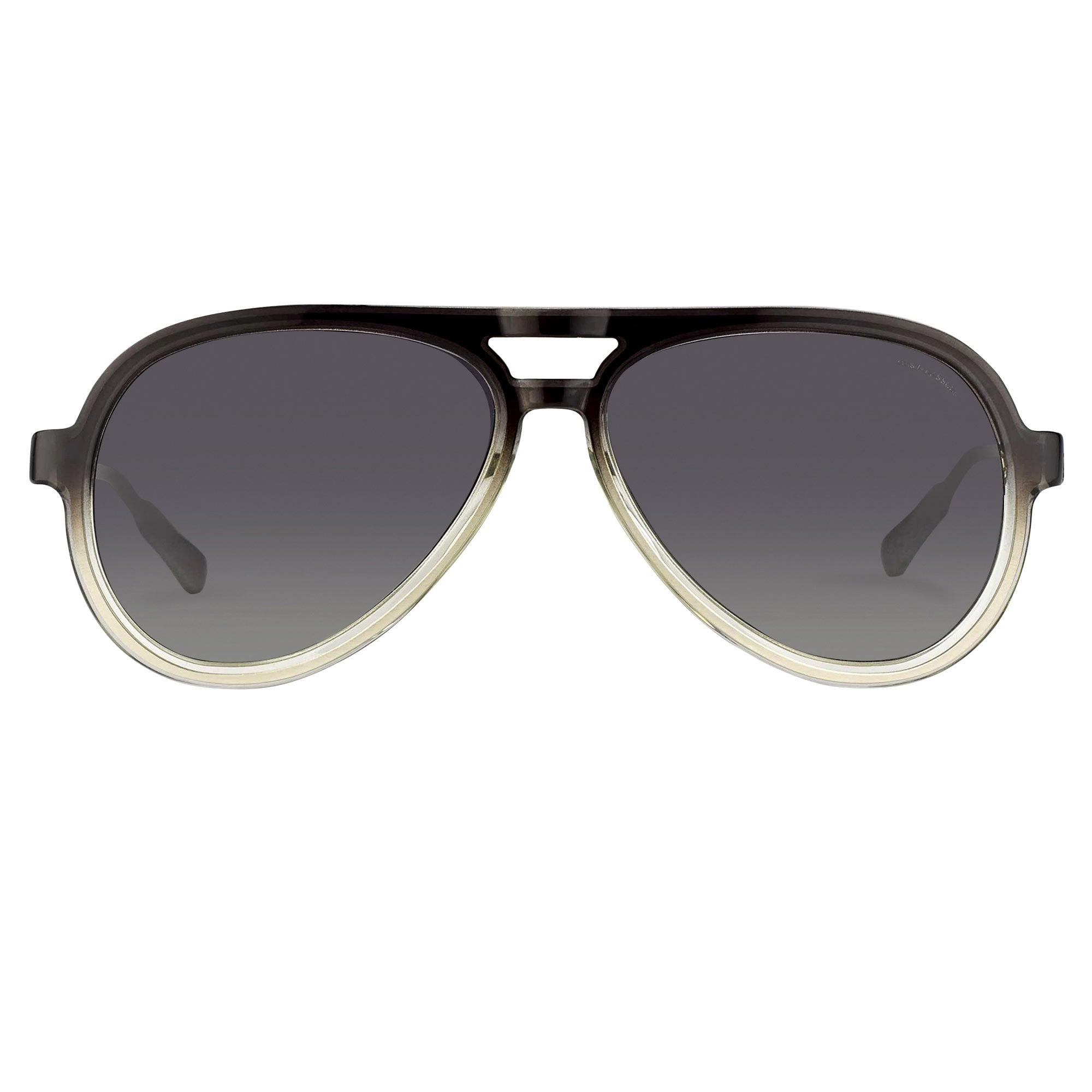 Kris Van Assche Sunglasses Titanium Dark Grey Clear With Purple Graduated Lenses - KVA78C1SUN - Watches & Crystals