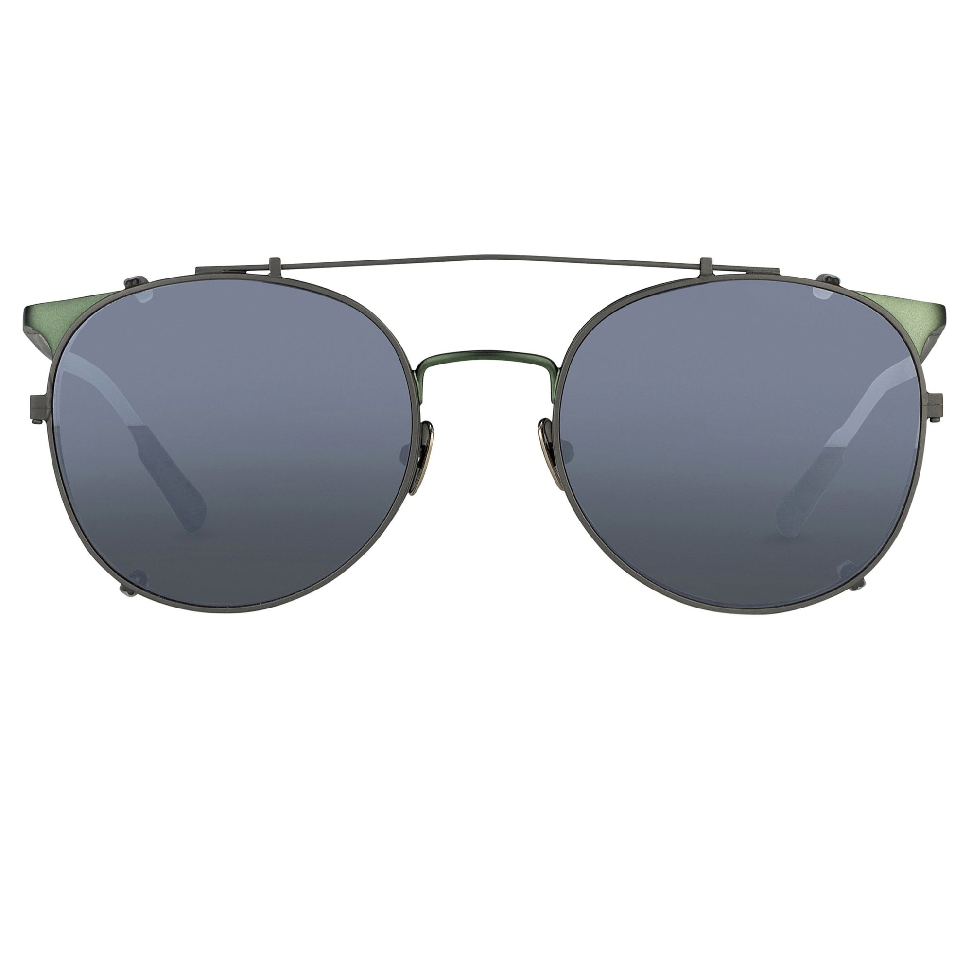 Kris Van Assche Sunglasses Unisex Oval Green and Flash Mirror Clip-On Lenses Category 3 - KVA69C6SUN - Watches & Crystals