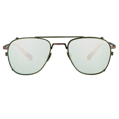 Kris Van Assche Sunglasses Unisex Rectangular Matte Bronze and Green Mirror Clip-On Lenses Category 3 - KVA92C6SUN - Watches & Crystals