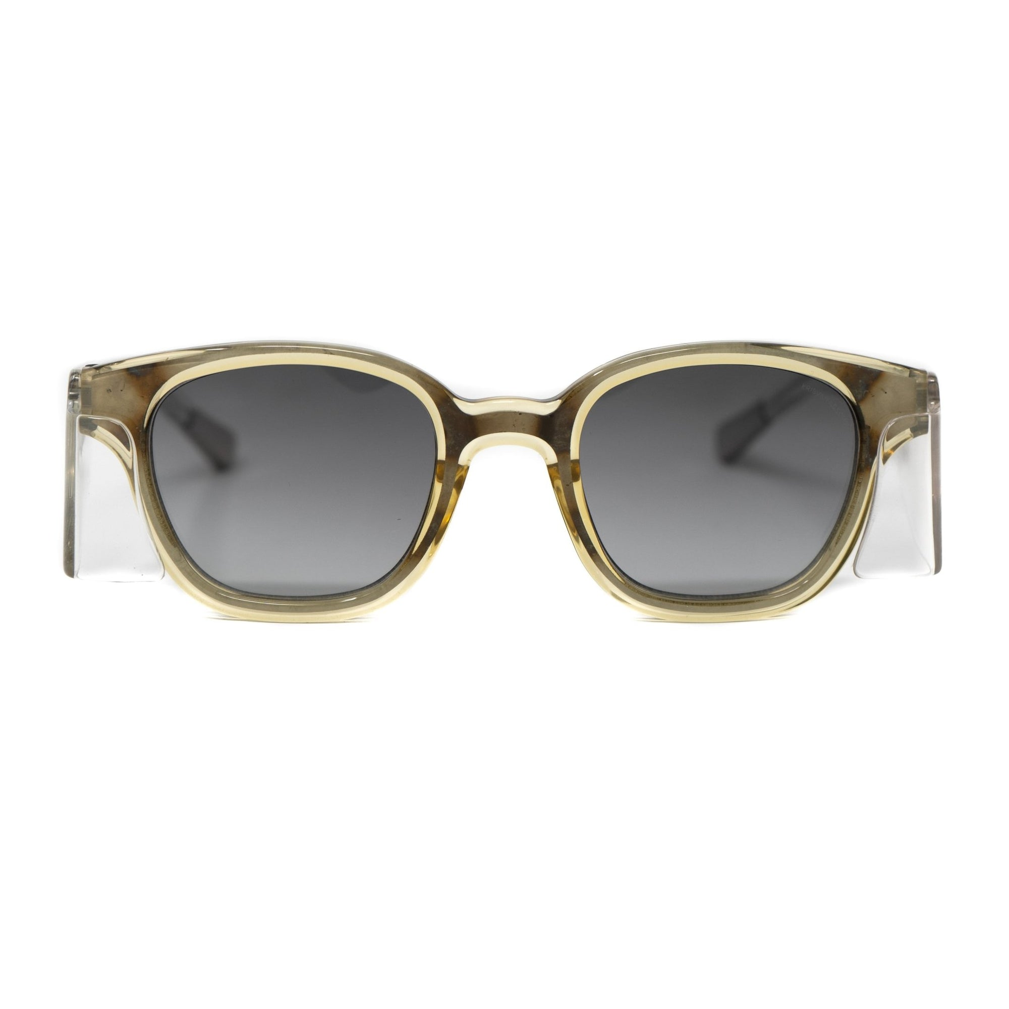 Kris Van Assche Sunglasses Unisex Side Piece Oval Translucent Yellow and Grey Lenses Category 2 - KVA9C4SUN - Watches & Crystals